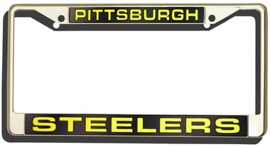 Pittsburgh Steelers Laser Etched Chrome Lisense Plate Frame