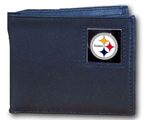 Pittsburgh Steelers Leather Bifold Wallet (F)