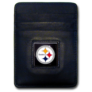 Pittsburgh Steelers Leather Money Clip (F)