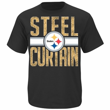 Pittsburgh Steelers Majestic Fantasy Leader II Distressed T-Shirt - Black