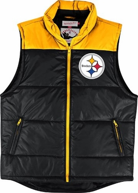 Pittsburgh Steelers Mitchell & Ness NFL Winning Team Throwback Snap Vest Jacket
