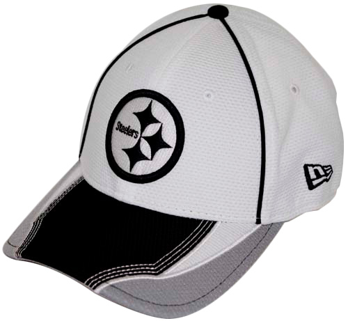 Pittsburgh Steelers New Era 39THIRTY Viza Frame Flex Fit Hat - Black White fe36ad088