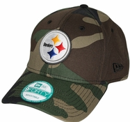 19e735841cd Pittsburgh Steelers New Era 9Forty NFL Basic Camouflage Adjustable Hat