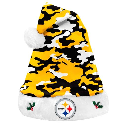... hot pittsburgh steelers nfl team logo plush camouflage santa hat 54515  a8cc8 9a9982f9a
