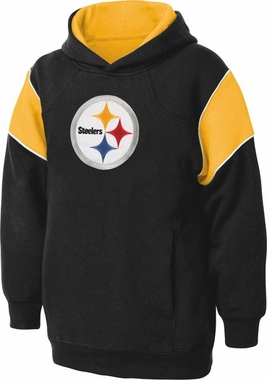 Pittsburgh Steelers NFL YOUTH Color Block Pullover Hooded Sweatshirt