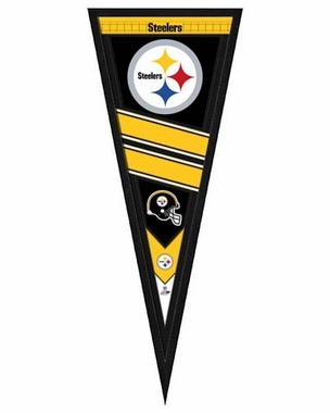 "Pittsburgh Steelers Pennant Frame - 13""x33"" (No Glass)"