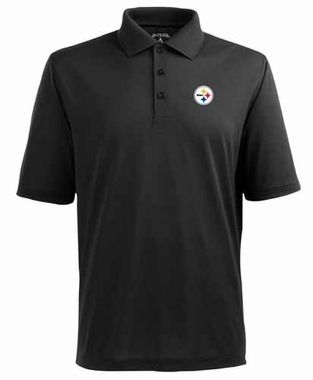 Pittsburgh Steelers Mens Pique Xtra Lite Polo Shirt (Color: Black)