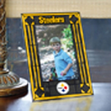 Pittsburgh Steelers Portrait Art Glass Picture Frame