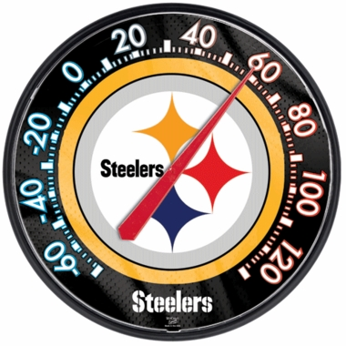 Pittsburgh Steelers Round Wall Thermometer