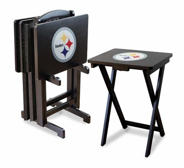Pittsburgh Steelers Set of 4 Folding TV Trays