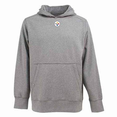 Pittsburgh Steelers Mens Signature Hooded Sweatshirt (Color: Gray)