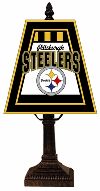 Pittsburgh Steelers Small Art Glass Lamp
