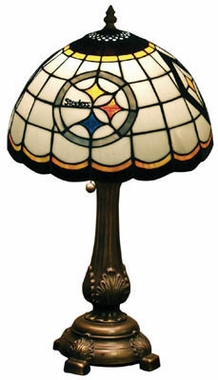 Pittsburgh Steelers Stained Glass Table Lamp