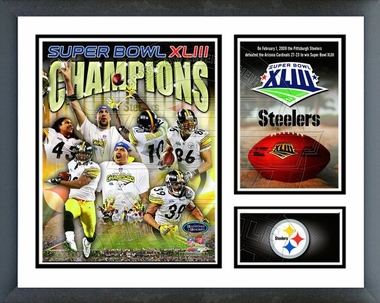 Pittsburgh Steelers SuperBowl XLIII Champions Framed Milestones & Memories