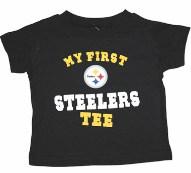 "Pittsburgh Steelers Toddler NFL ""My First Steelers"" Tee T-Shirt"