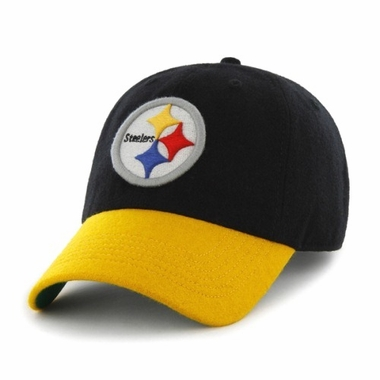 Pittsburgh Steelers Two Tone Brooksby Melton Wool Adjustable Hat