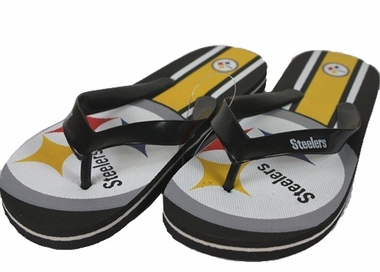 Pittsburgh Steelers Unisex Big Logo Flip Flops