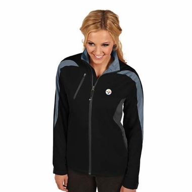 Pittsburgh Steelers Womens Discover Jacket (Color: Black)