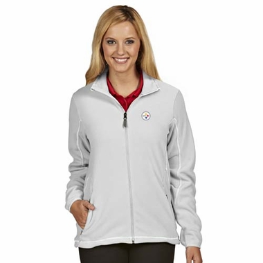 Pittsburgh Steelers Womens Ice Polar Fleece Jacket (Color: White)