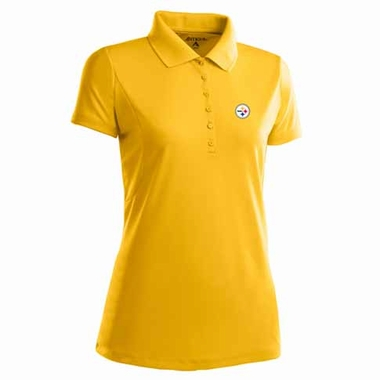 Pittsburgh Steelers Womens Pique Xtra Lite Polo Shirt (Color: Gold)