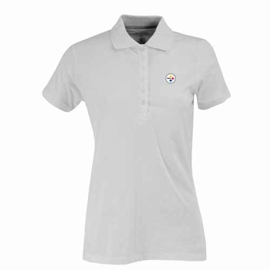 Pittsburgh Steelers Womens Spark Polo (Color: White)