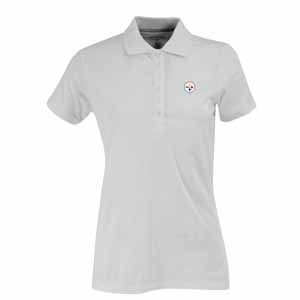 Pittsburgh Steelers Womens Spark Polo (Color: White) - Large