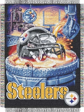 Pittsburgh Steelers Woven Tapestry Blanket