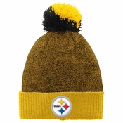 5903edde660 Pittsburgh Steelers Youth Basic Cuffed Knit Hat w  Pom