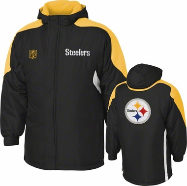 Pittsburgh Steelers YOUTH Field Goal Midweight Full Zip Hooded Jacket