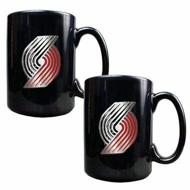 Portland Trailblazers 2 Piece Coffee Mug Set