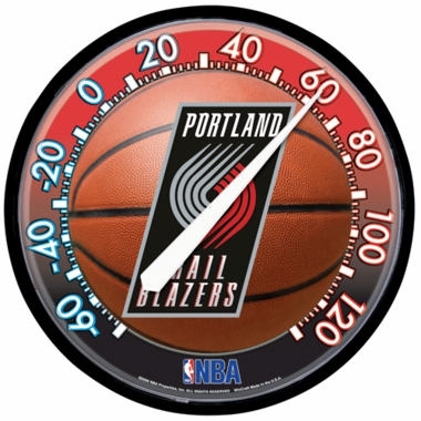 Portland Trailblazers Round Wall Thermometer