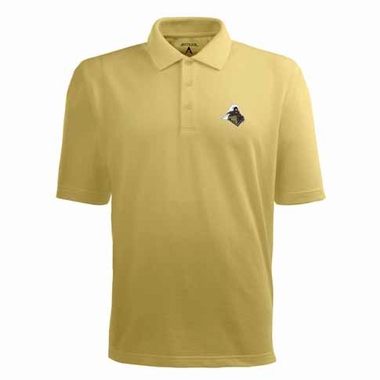 Purdue Mens Pique Xtra Lite Polo Shirt (Color: Gold)