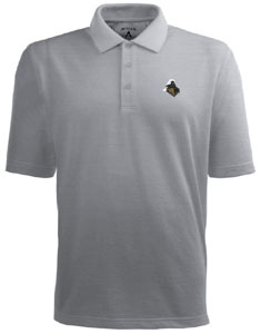 Purdue Mens Pique Xtra Lite Polo Shirt (Color: Gray) - Large