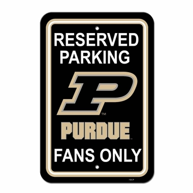 Purdue Plastic Parking Sign (P)