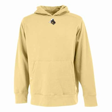 Purdue Mens Signature Hooded Sweatshirt (Color: Gold)