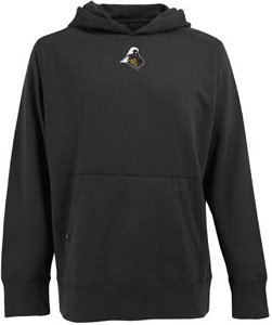 Purdue Mens Signature Hooded Sweatshirt (Color: Black) - Small