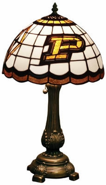 Purdue Stained Glass Table Lamp