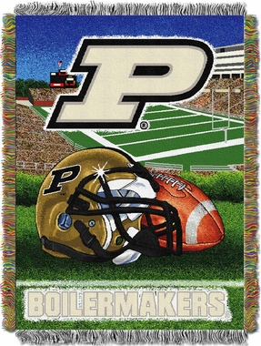 Purdue Woven Tapestry Blanket