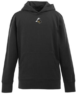 Purdue YOUTH Boys Signature Hooded Sweatshirt (Color: Black) - X-Small