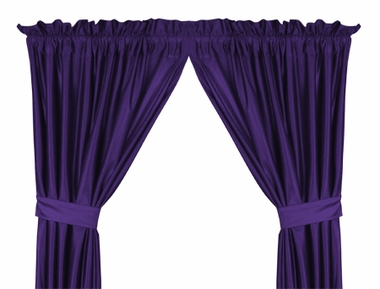 Purple Jersey Material Drapes (Pair)