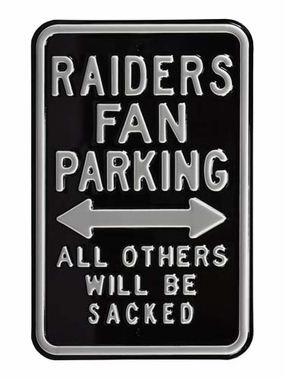 Raiders/Sacked Parking Sign