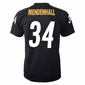 Rashard Mendenhall YOUTH Pittsburgh Steelers # 34 Performance Jersey T-shirt - X-Large