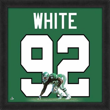 "Reggie White, Eagles UNIFRAME 20"" x 20"""