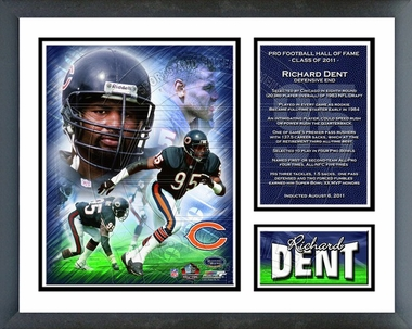 Richard Dent 2011 Hall of Fame Framed Milestones & Memories(#296)