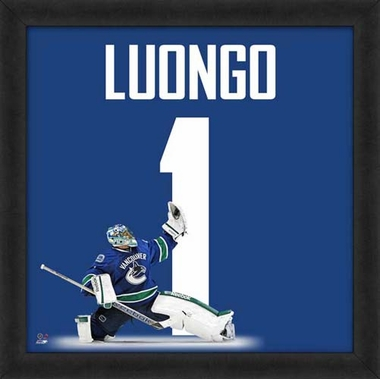 "Roberto Luongo, Canucks UNIFRAME 20"" x 20"""