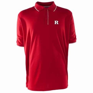 Rutgers Mens Elite Polo Shirt (Color: Red)