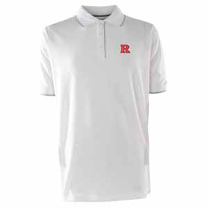 Rutgers Mens Elite Polo Shirt (Color: White) - Small