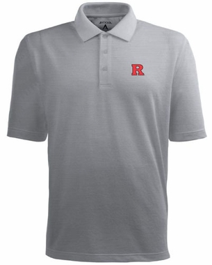 Rutgers Mens Pique Xtra Lite Polo Shirt (Color: Gray)