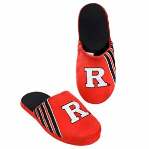 Rutgers Scarlet Knights 2012 Team Stripe Logo Slippers - Medium