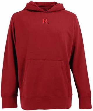 Rutgers Mens Signature Hooded Sweatshirt (Color: Red)